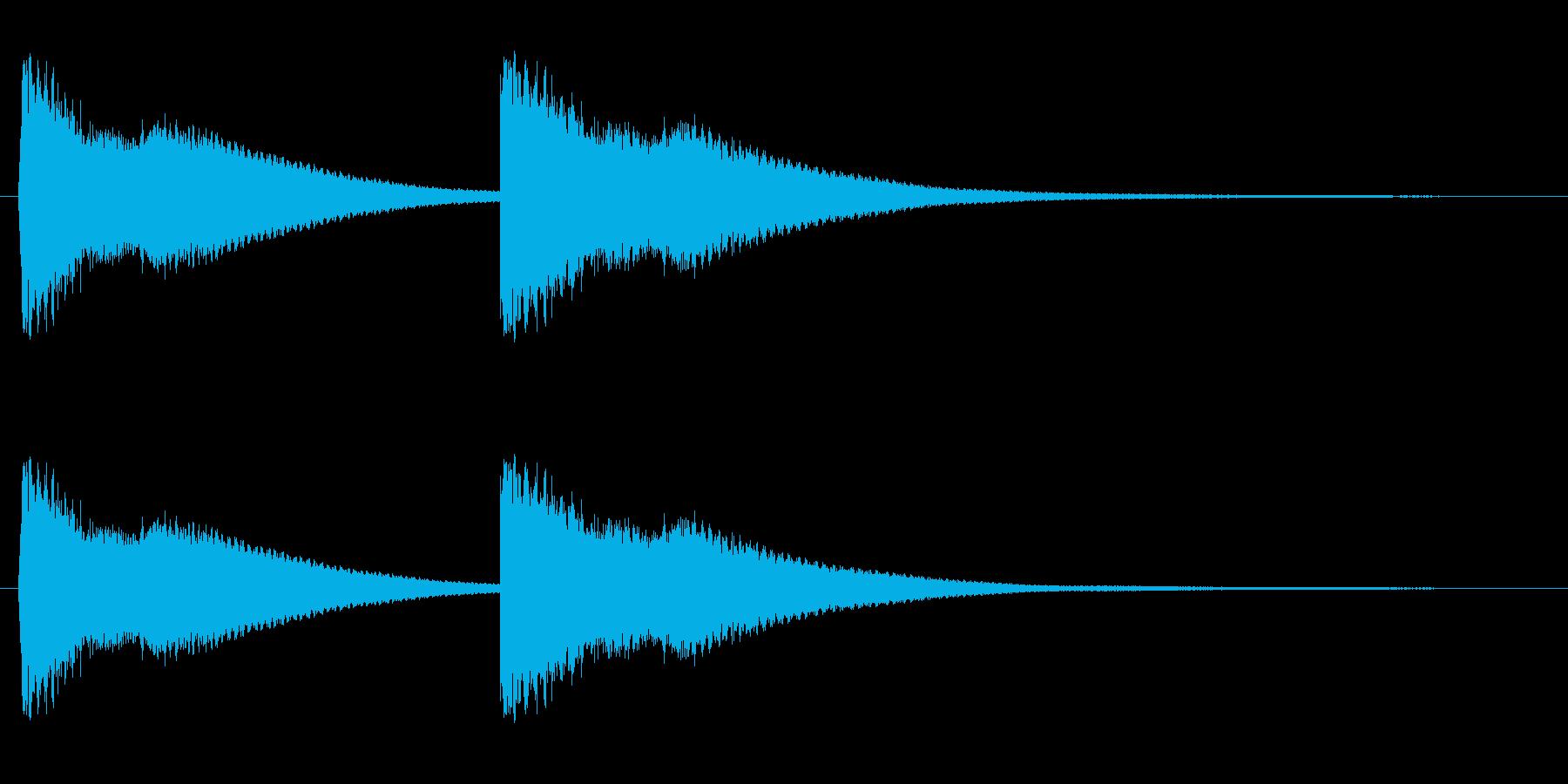 綺麗でハッキリ聴こえる効果音の再生済みの波形