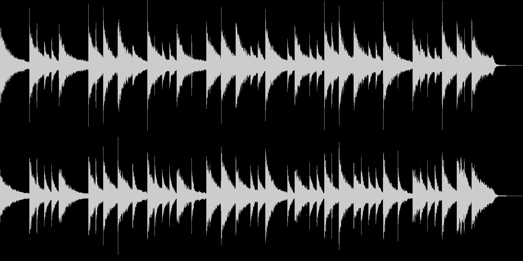 ピアノで回想シーン、CM向けな曲の未再生の波形