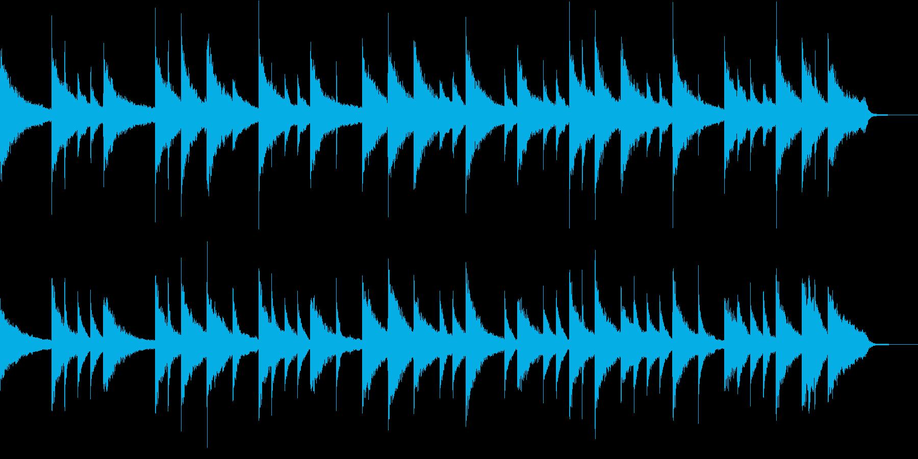 ピアノで回想シーン、CM向けな曲の再生済みの波形