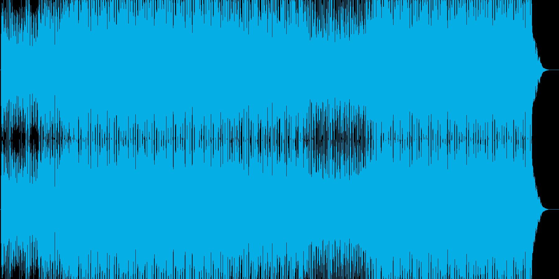 浮遊感あるメロのテクノの再生済みの波形
