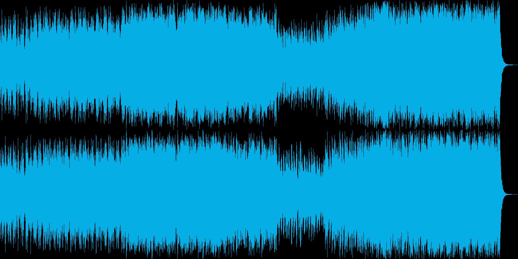 勇壮なオーケストラ曲の再生済みの波形