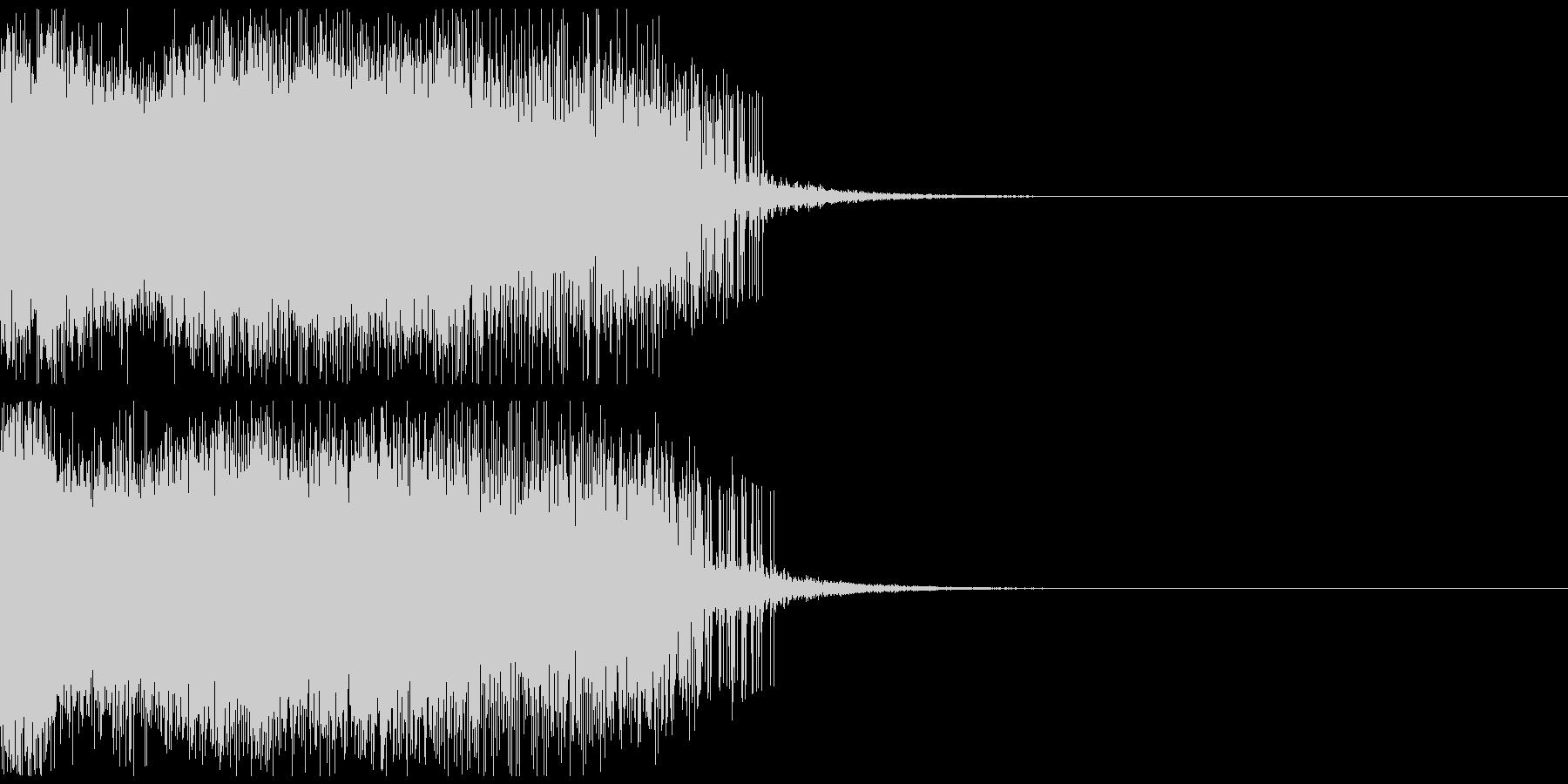 墜落音01の未再生の波形