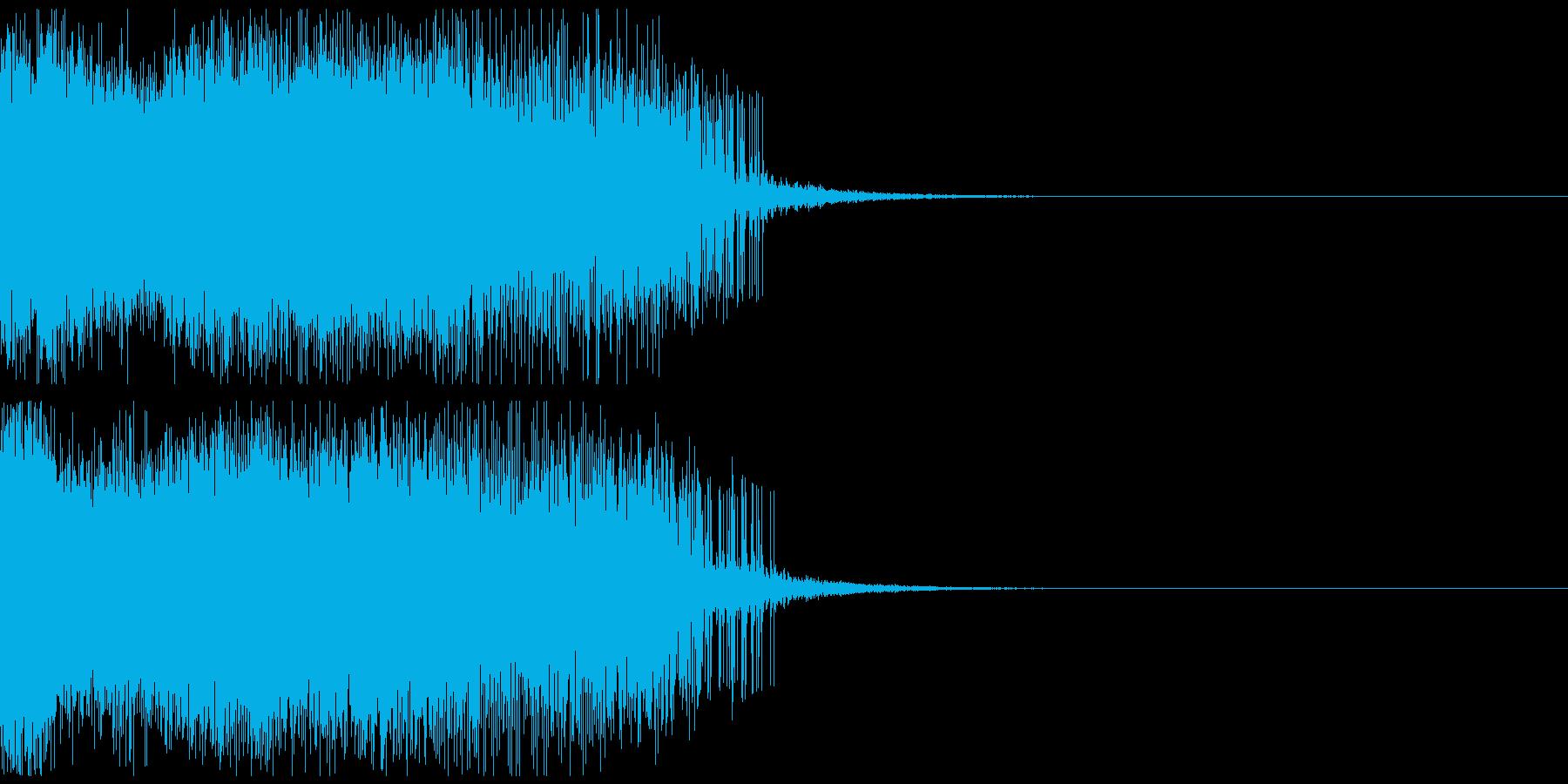 墜落音01の再生済みの波形