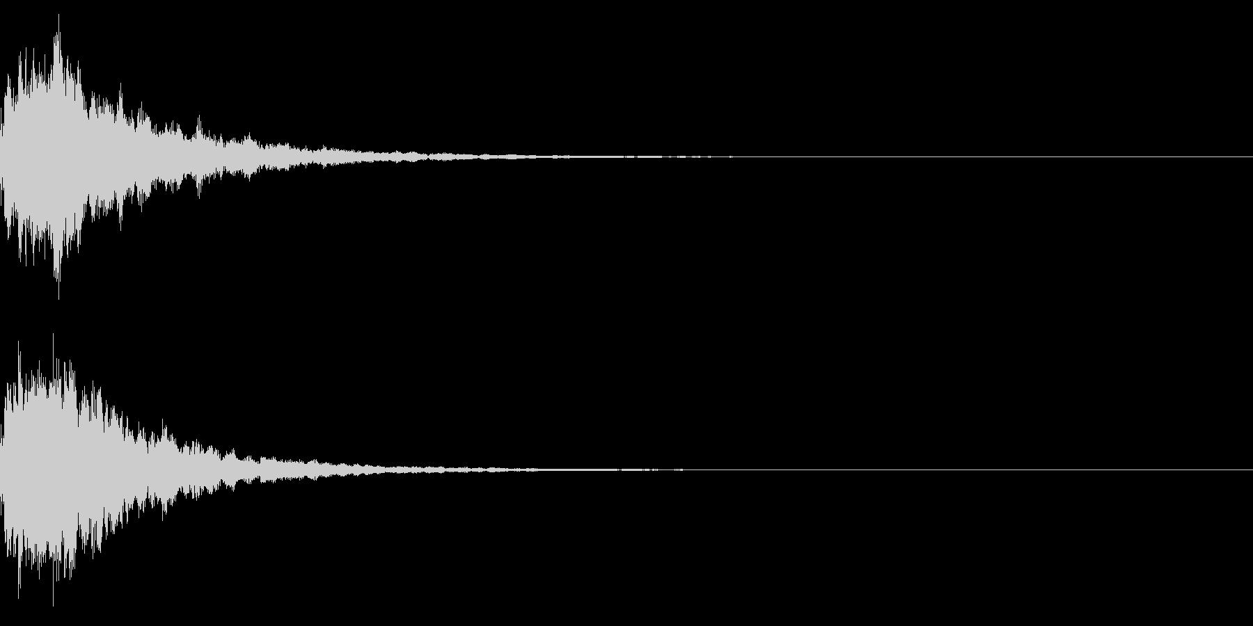 明るいテロップ音 ボタン音 決定音!02の未再生の波形