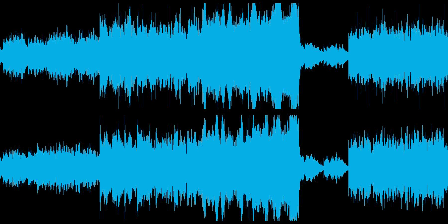 壮大な和風オーケストラの再生済みの波形