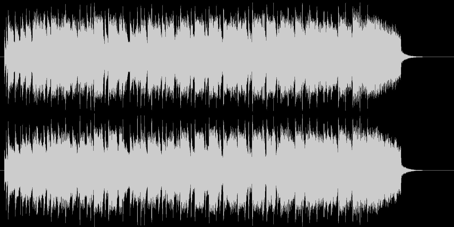 明るく可愛らしいシンセサイザーの曲の未再生の波形