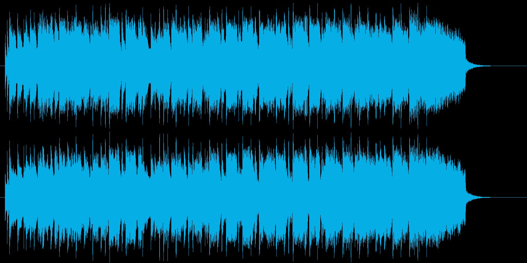 明るく可愛らしいシンセサイザーの曲の再生済みの波形