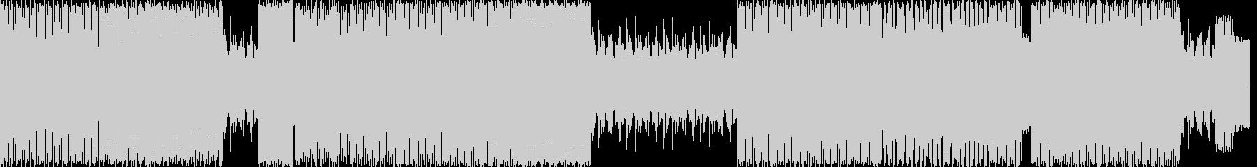 パワフルではじけるエレクトロハウスの未再生の波形