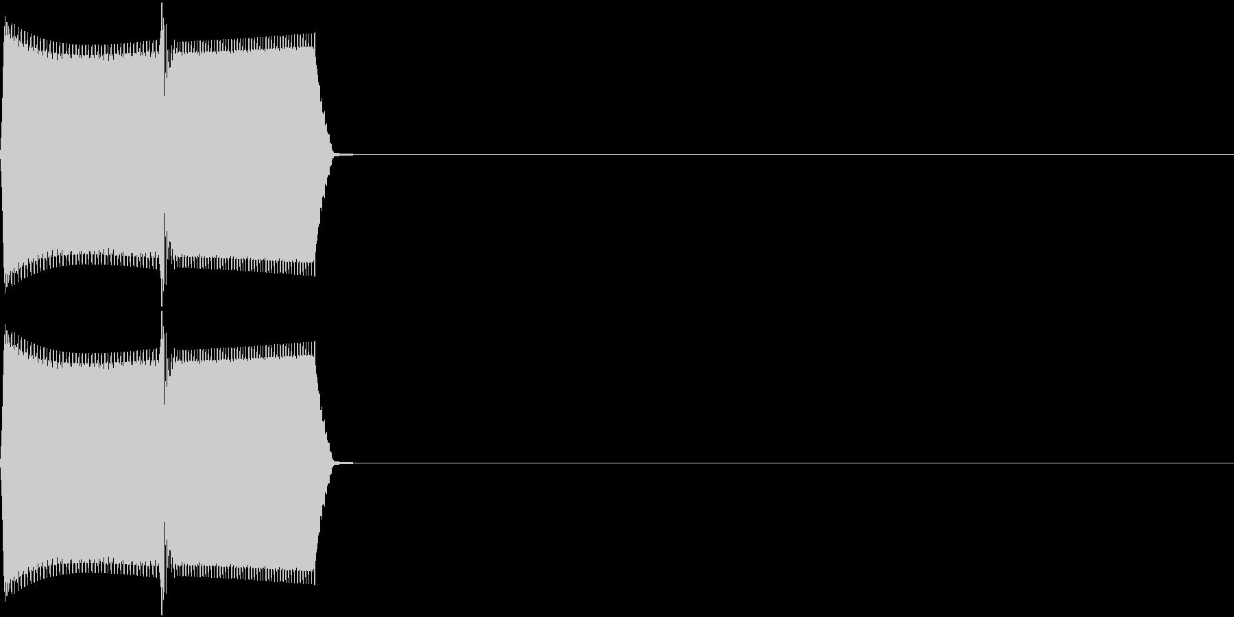 Register レジ バーコード読取音の未再生の波形