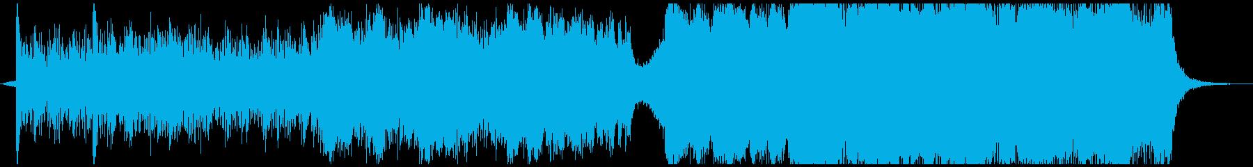 ハイテンポなエピック系バトル曲の再生済みの波形