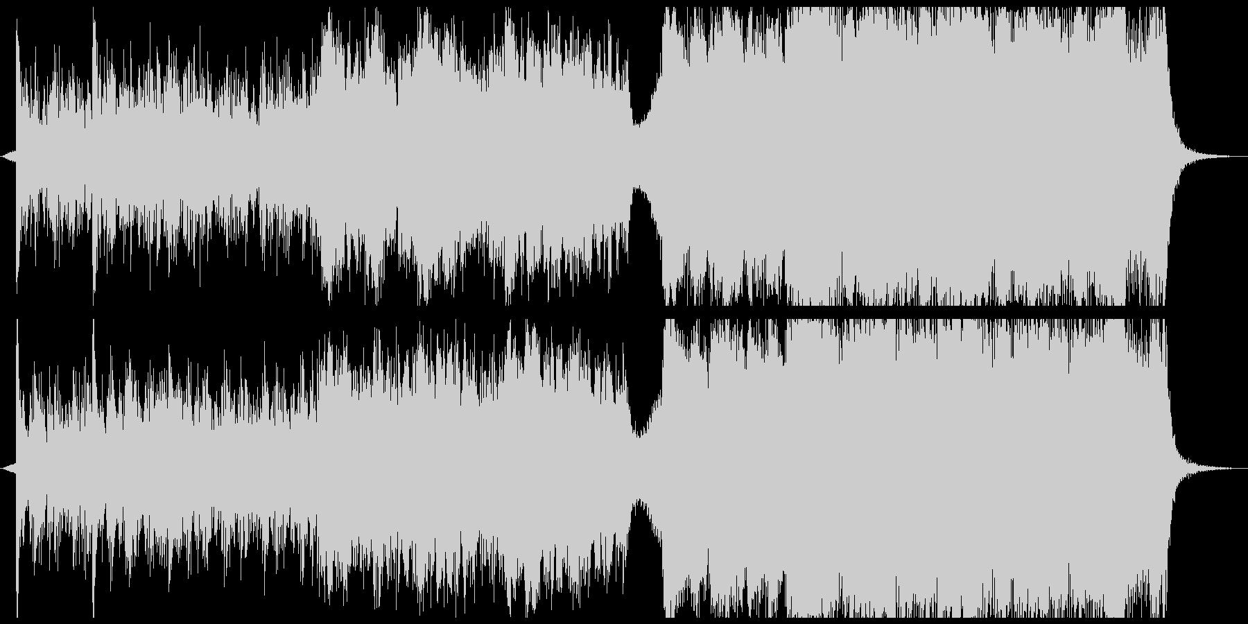 ハイテンポなエピック系バトル曲の未再生の波形