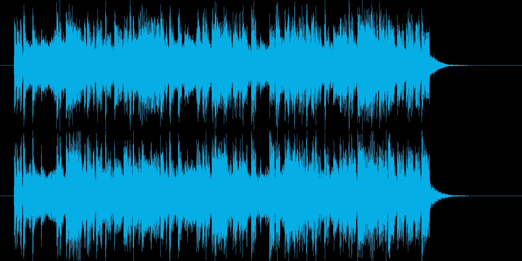 可愛く軽快なジングルの再生済みの波形