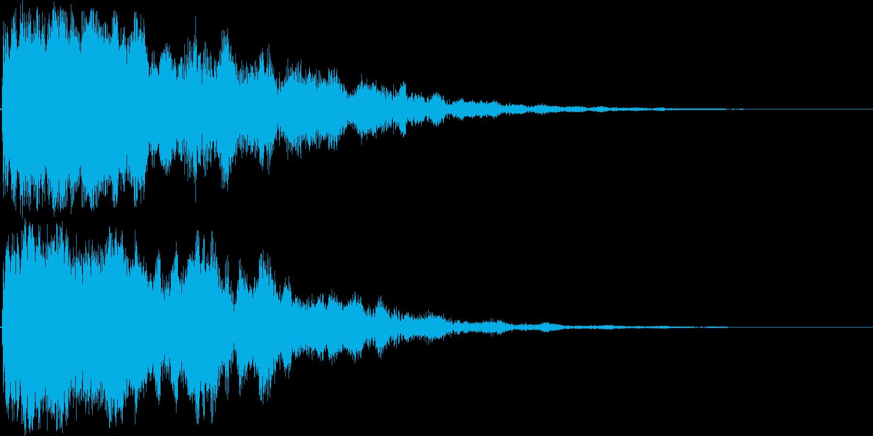 シャキーン!(闇や毒などの特殊魔法)09の再生済みの波形