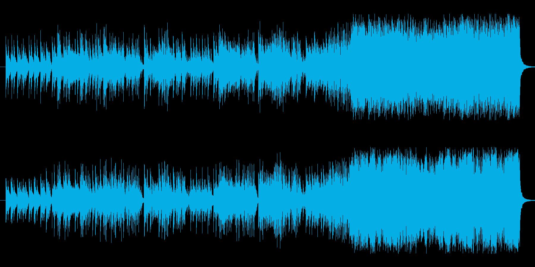 ある日の感情の変化をピアノで表現した曲の再生済みの波形