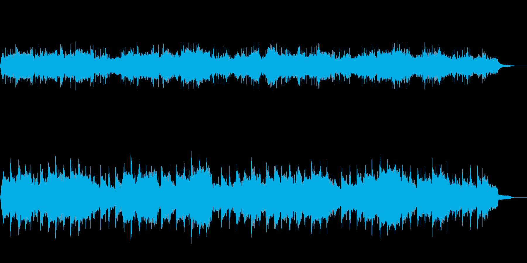ボサノヴァ風のワルツの再生済みの波形