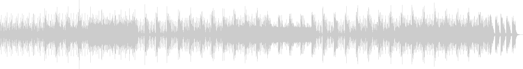 激しいドラムが印象的なテクノロックの未再生の波形