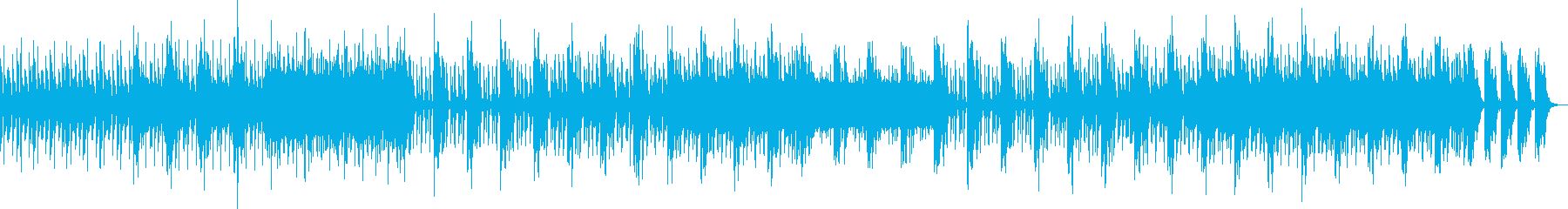 激しいドラムが印象的なテクノロックの再生済みの波形