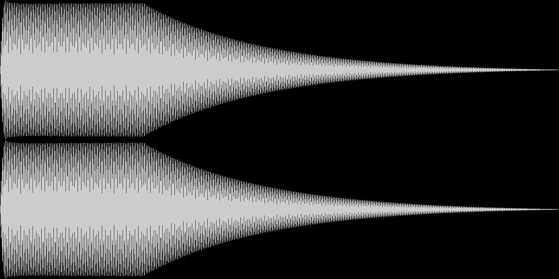Sin シンプルなサイン波のタッチ音 1の未再生の波形