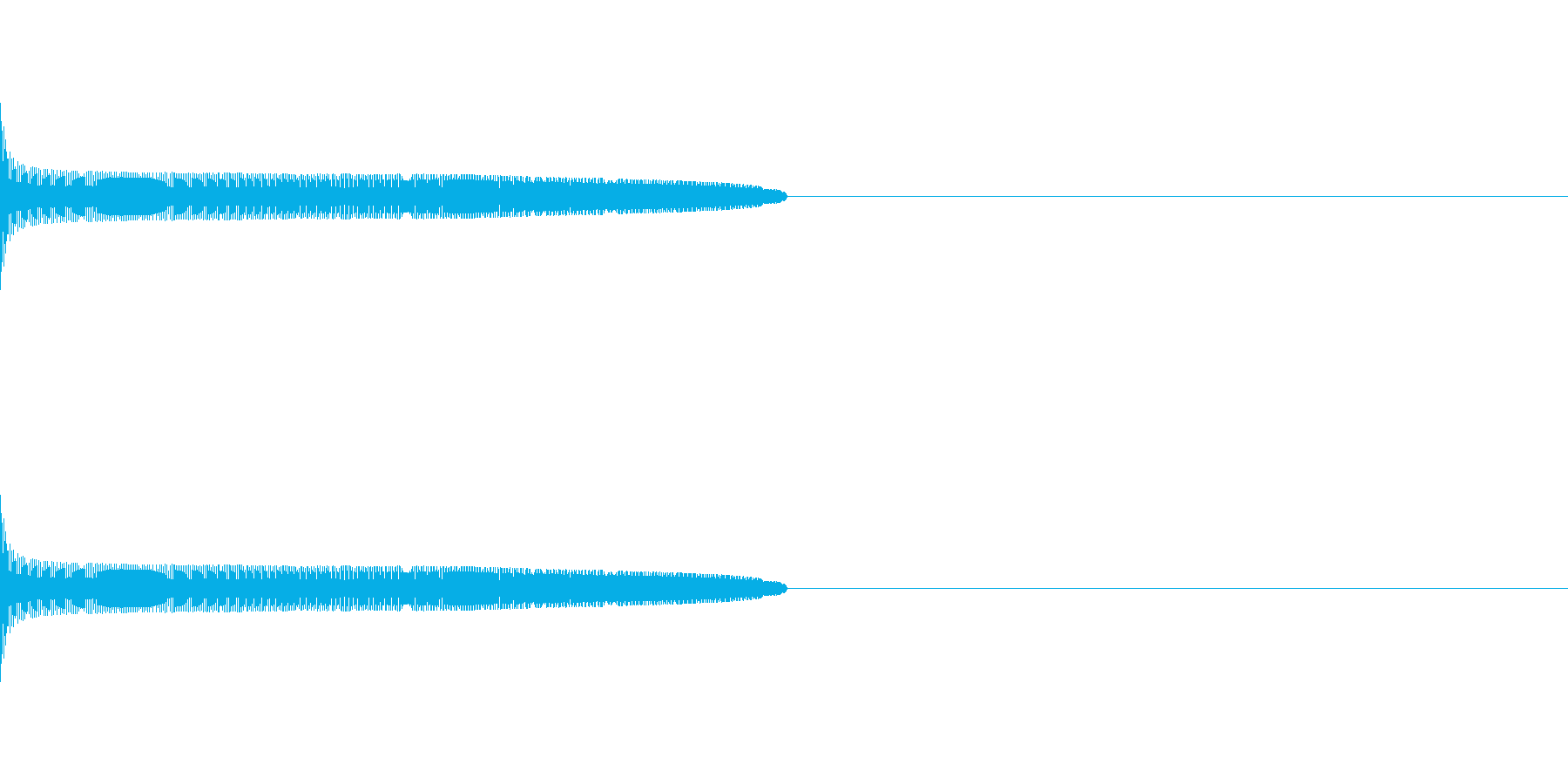 ステータスアップや嬉しい時に流れる効果音の再生済みの波形
