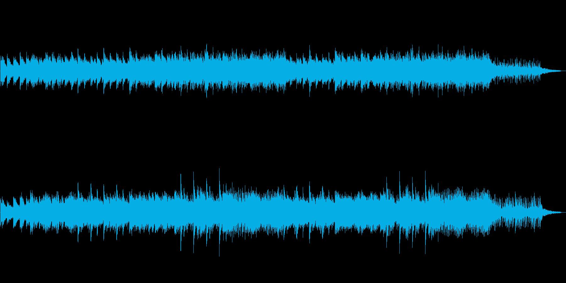 不思議で綺麗な夢の中の様なピアノ曲の再生済みの波形