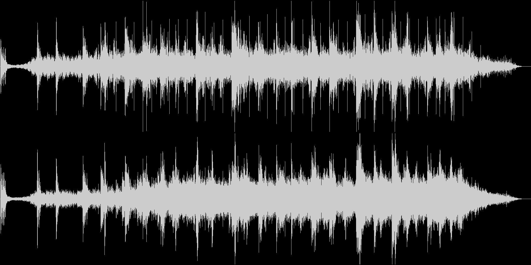 アンビエントなやわらかい響きの音楽の未再生の波形