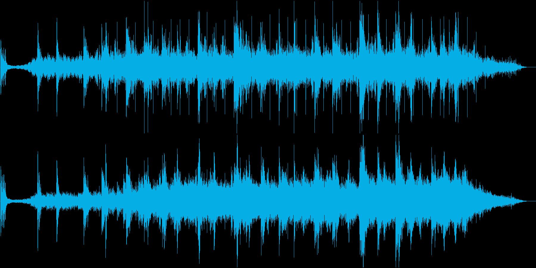 アンビエントなやわらかい響きの音楽の再生済みの波形