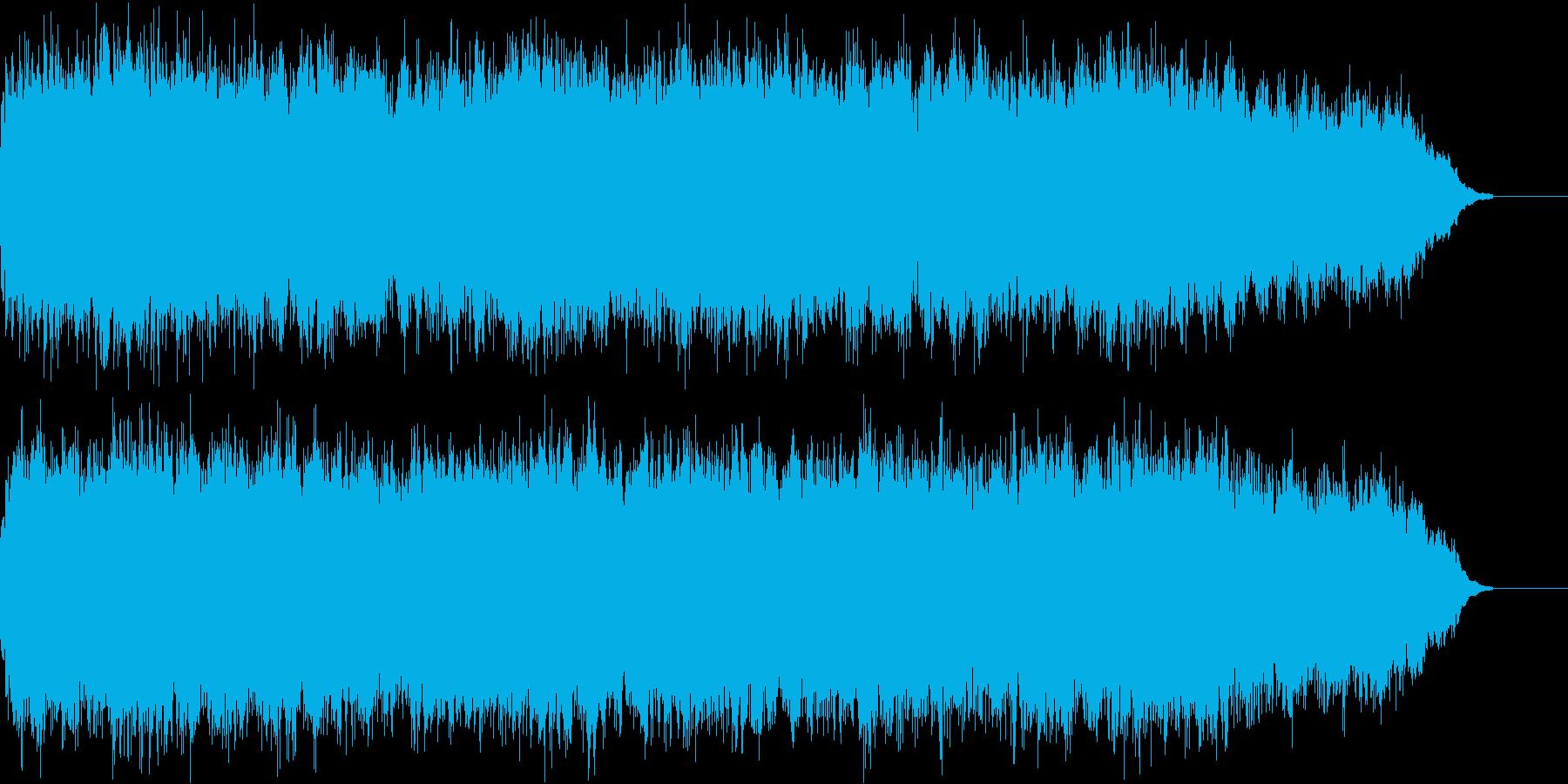 神秘的でホラーチックな場面の曲の再生済みの波形