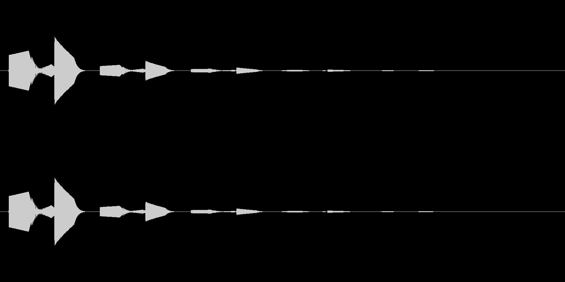 ピロッ↑(決定音、セーブ、回復)の未再生の波形