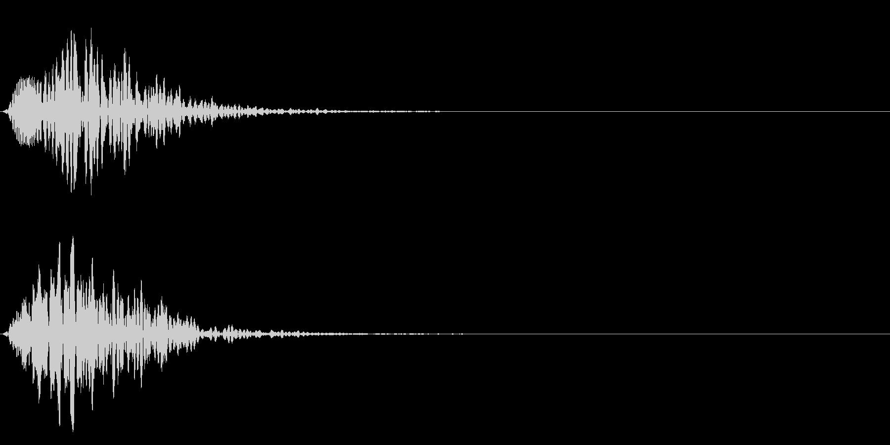 ポワ♪可愛い選択音、決定音、テロップ!1の未再生の波形
