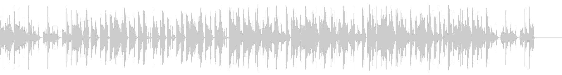 ベース、シンセパッドが印象的な曲の未再生の波形