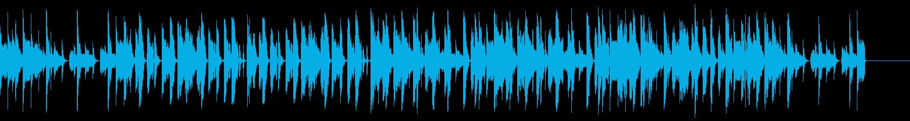 ベース、シンセパッドが印象的な曲の再生済みの波形