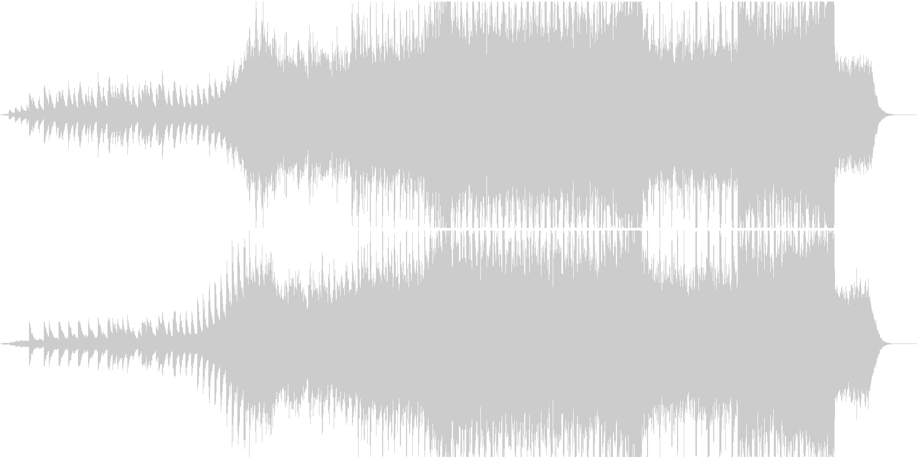 明るい雰囲気のクリスマスBGMの未再生の波形