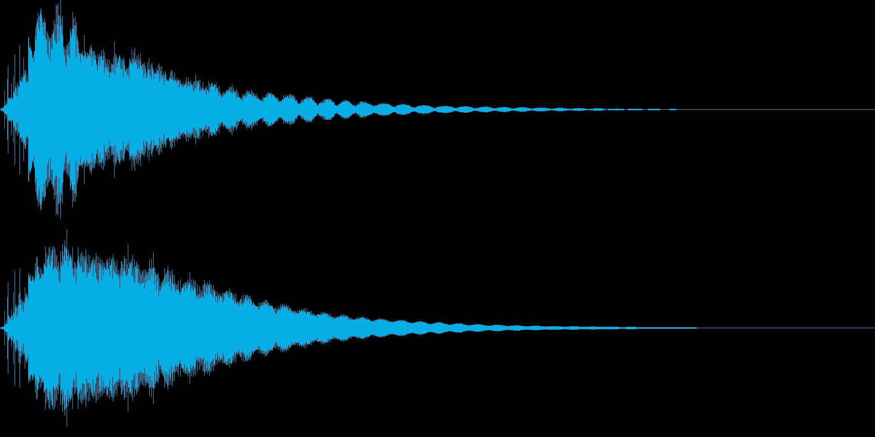 素敵な演出に綺麗なキラキラ音2の再生済みの波形