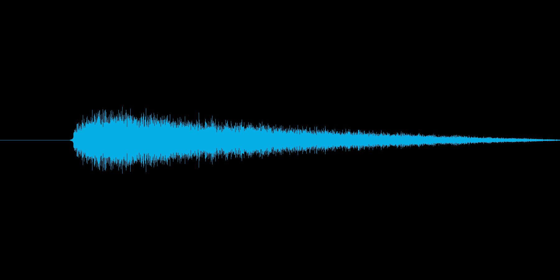 プシュー(蒸気の音)の再生済みの波形