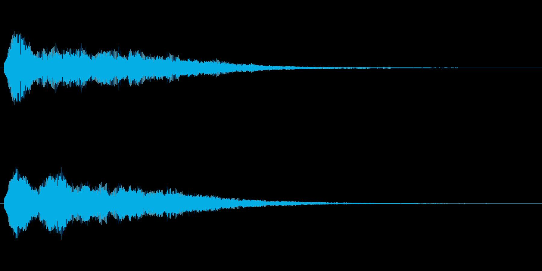 キラキラした効果音(お知らせ、爽やか)の再生済みの波形