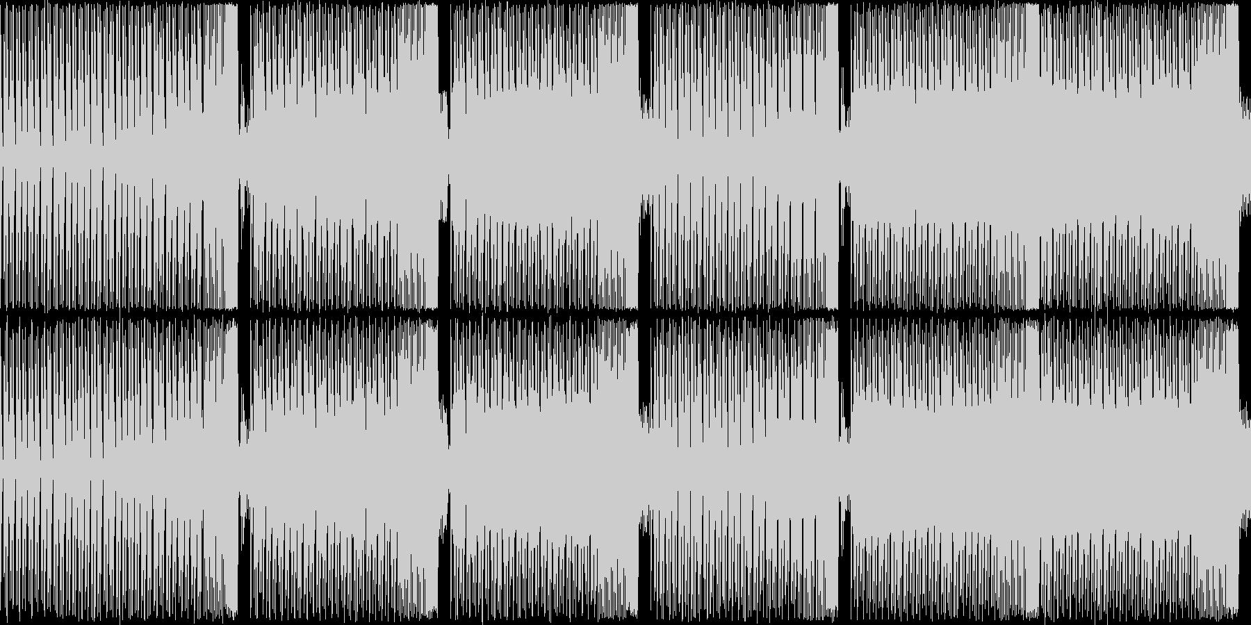 【軽快でコミカルなEDM】の未再生の波形