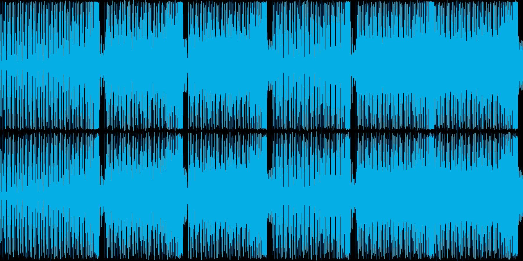【軽快でコミカルなEDM】の再生済みの波形