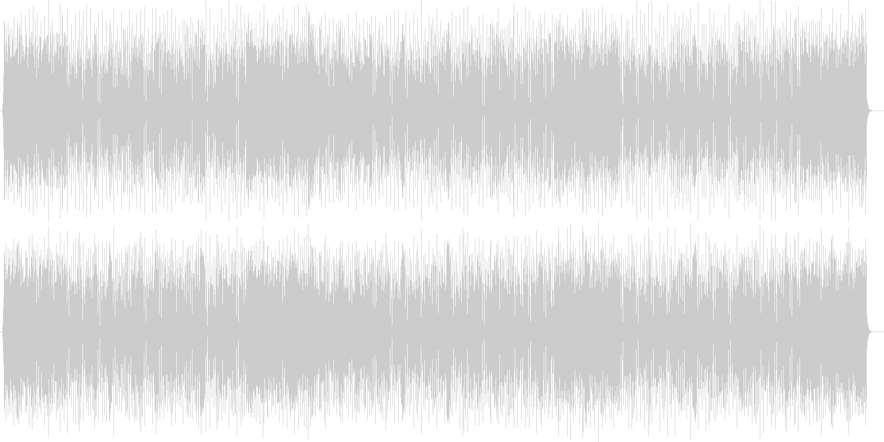 ファンタジーなシンセサイザーポップの未再生の波形