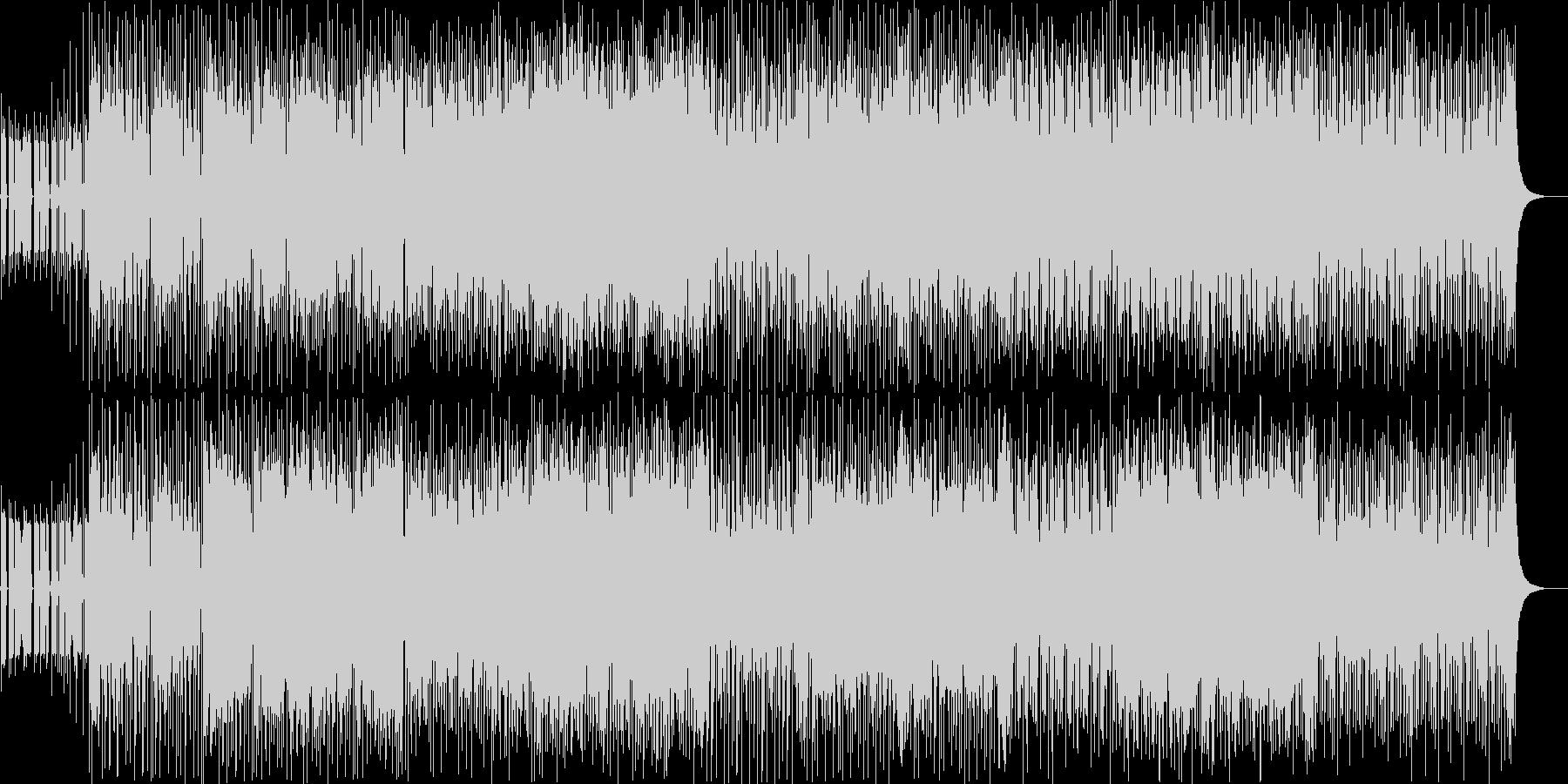 緊張感のあるピアノロックの未再生の波形