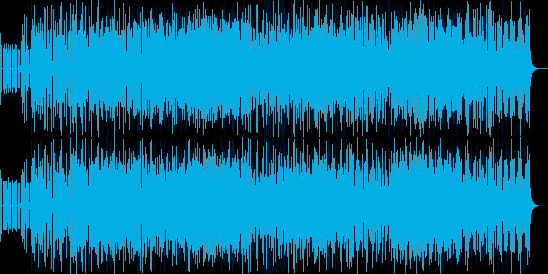 緊張感のあるピアノロックの再生済みの波形