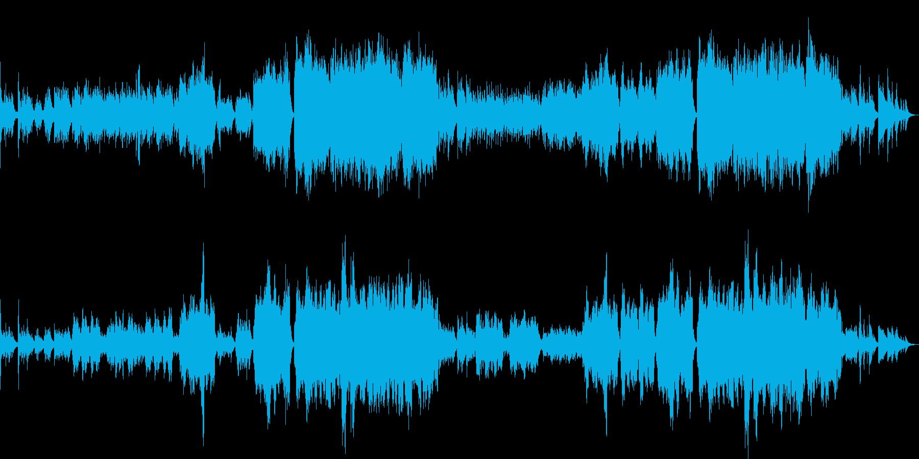 青春の思い出を演出するインスト曲の再生済みの波形