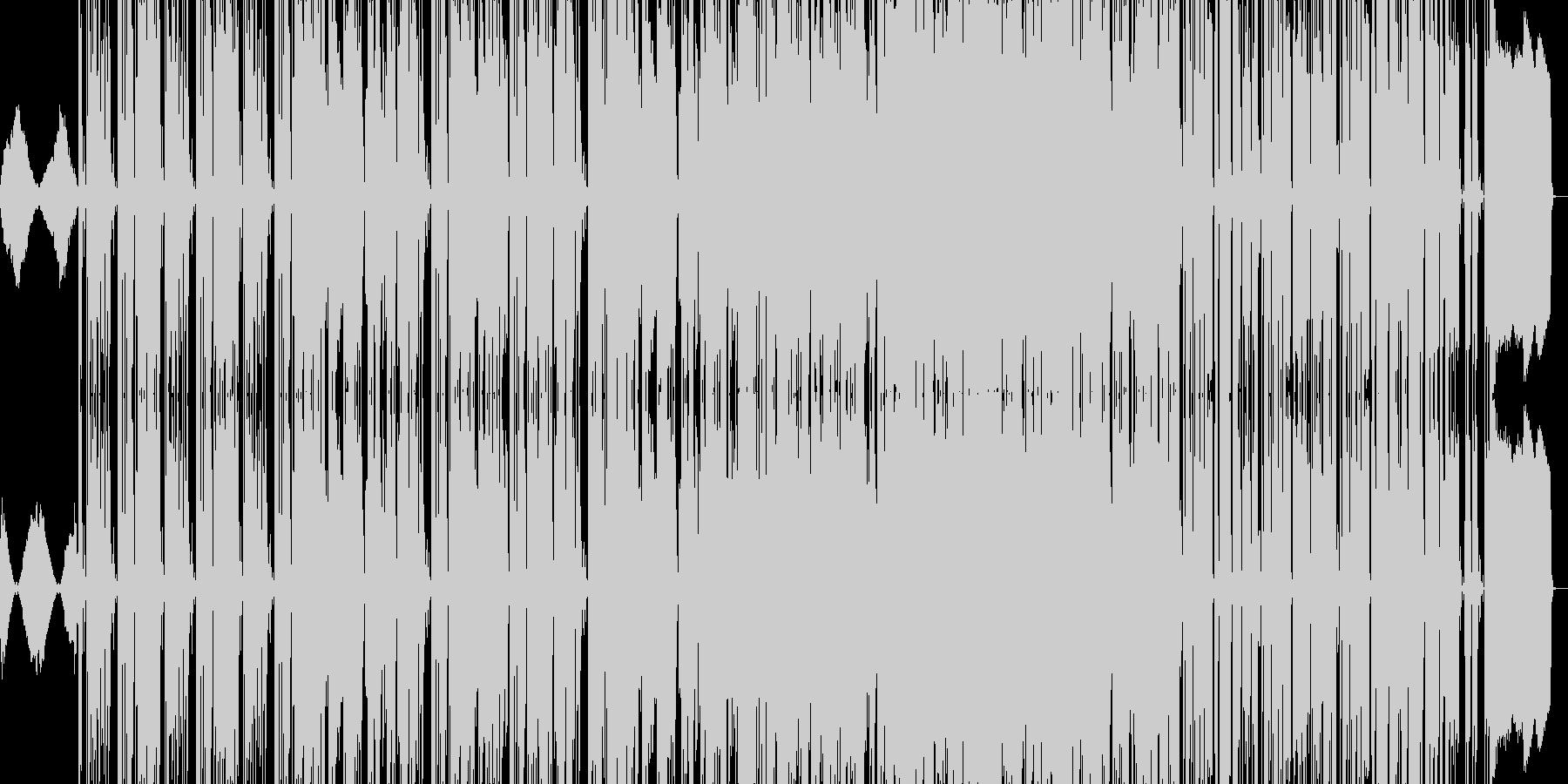 オフビート感ただようロック風ファンクの未再生の波形