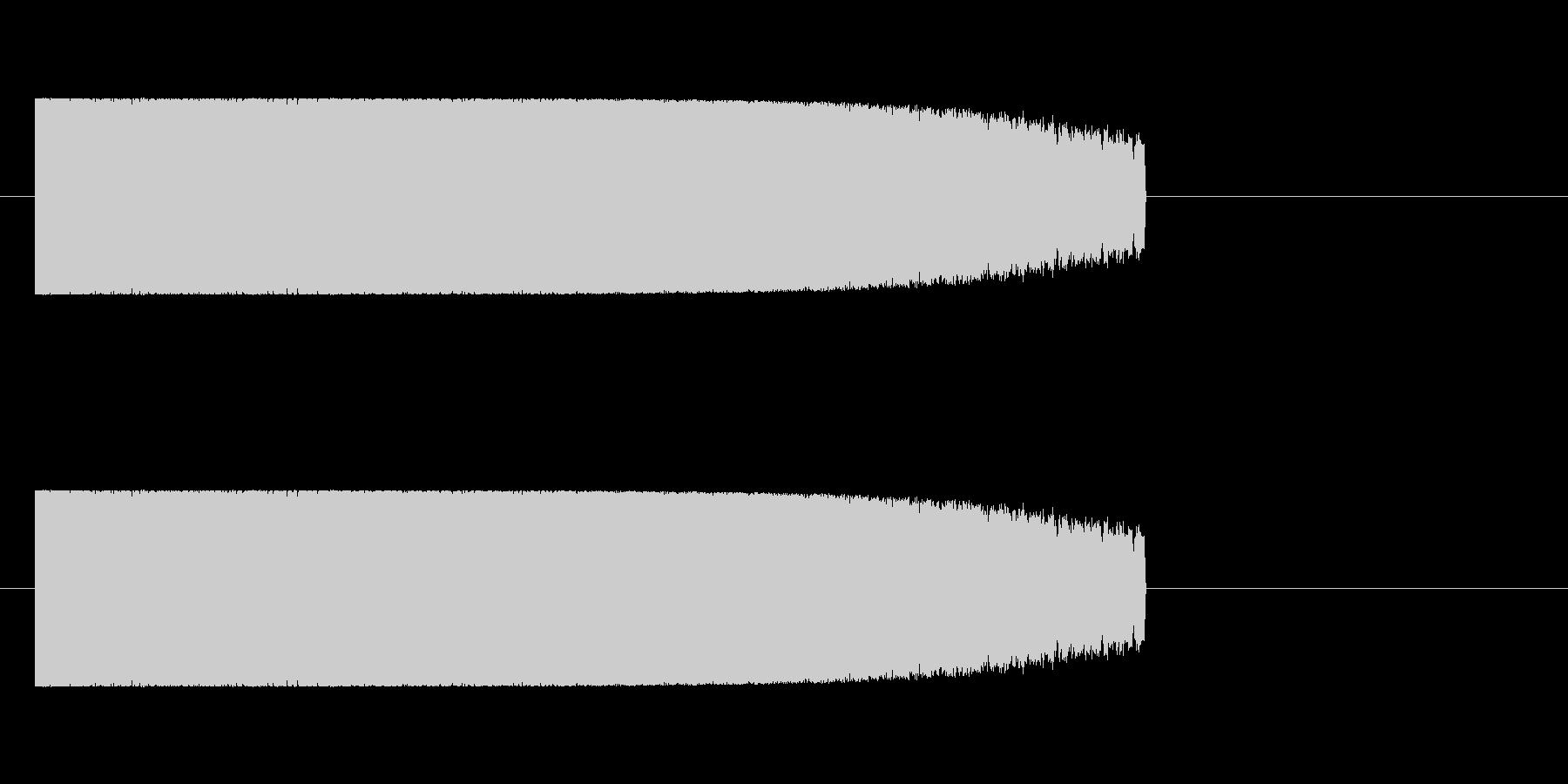 ロボット足音 タイプ6の未再生の波形