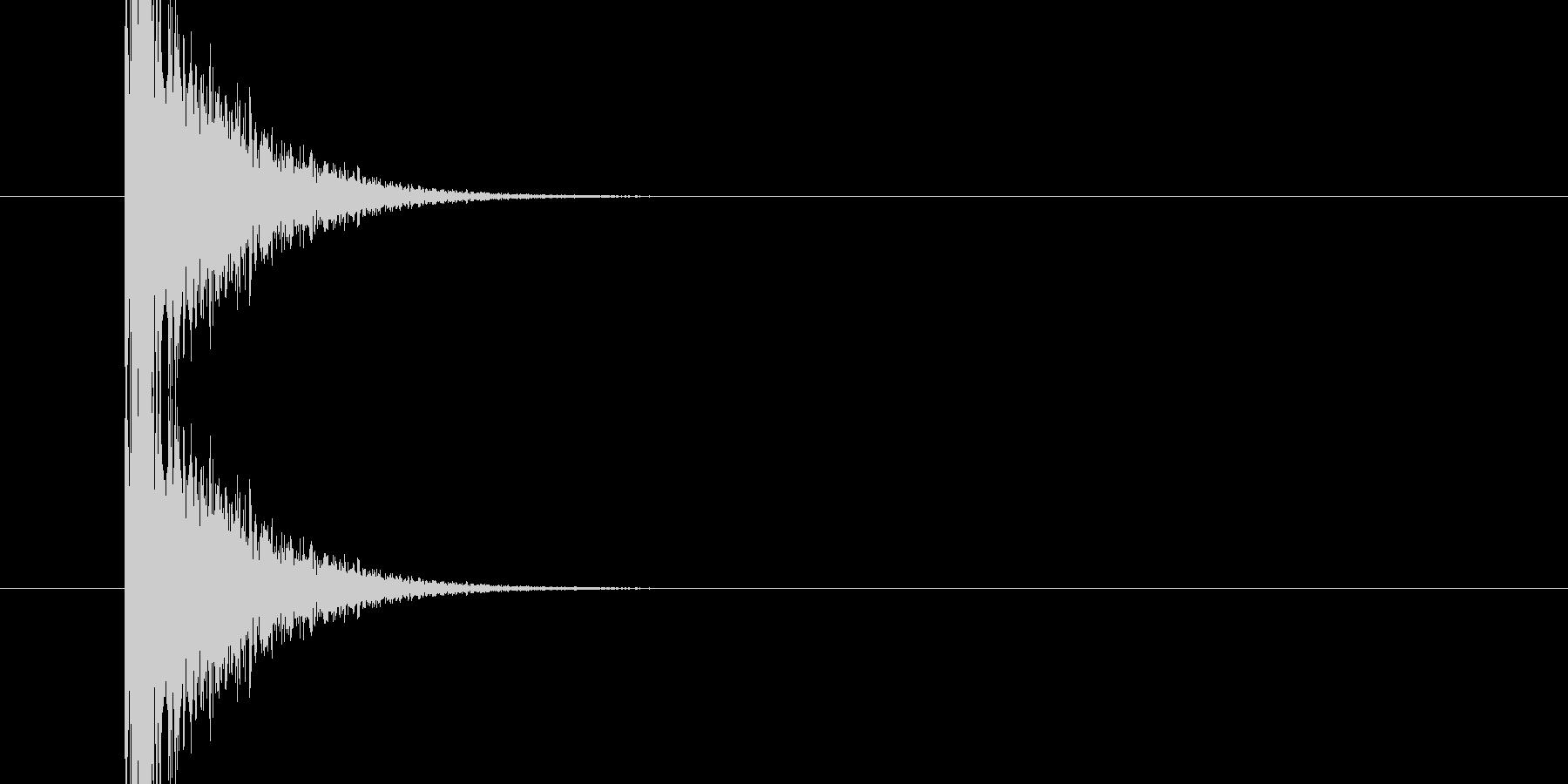 パンッ!という銃声、破裂音に使える音01の未再生の波形