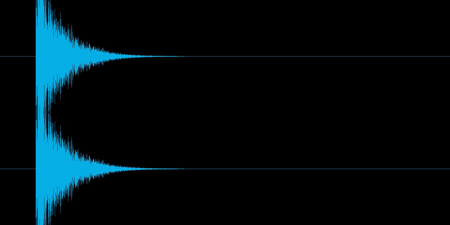パンッ!という銃声、破裂音に使える音01の再生済みの波形