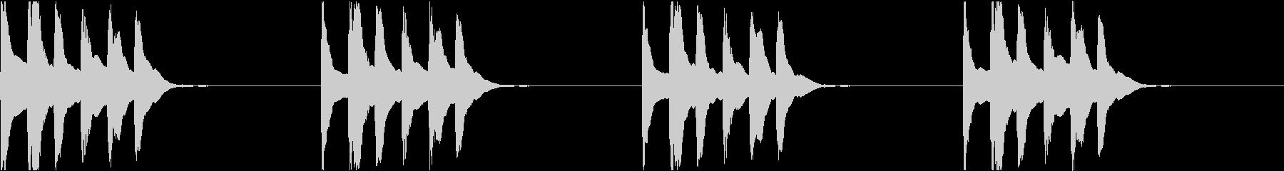 シンプル ベル 着信音 チャイム C-9の未再生の波形