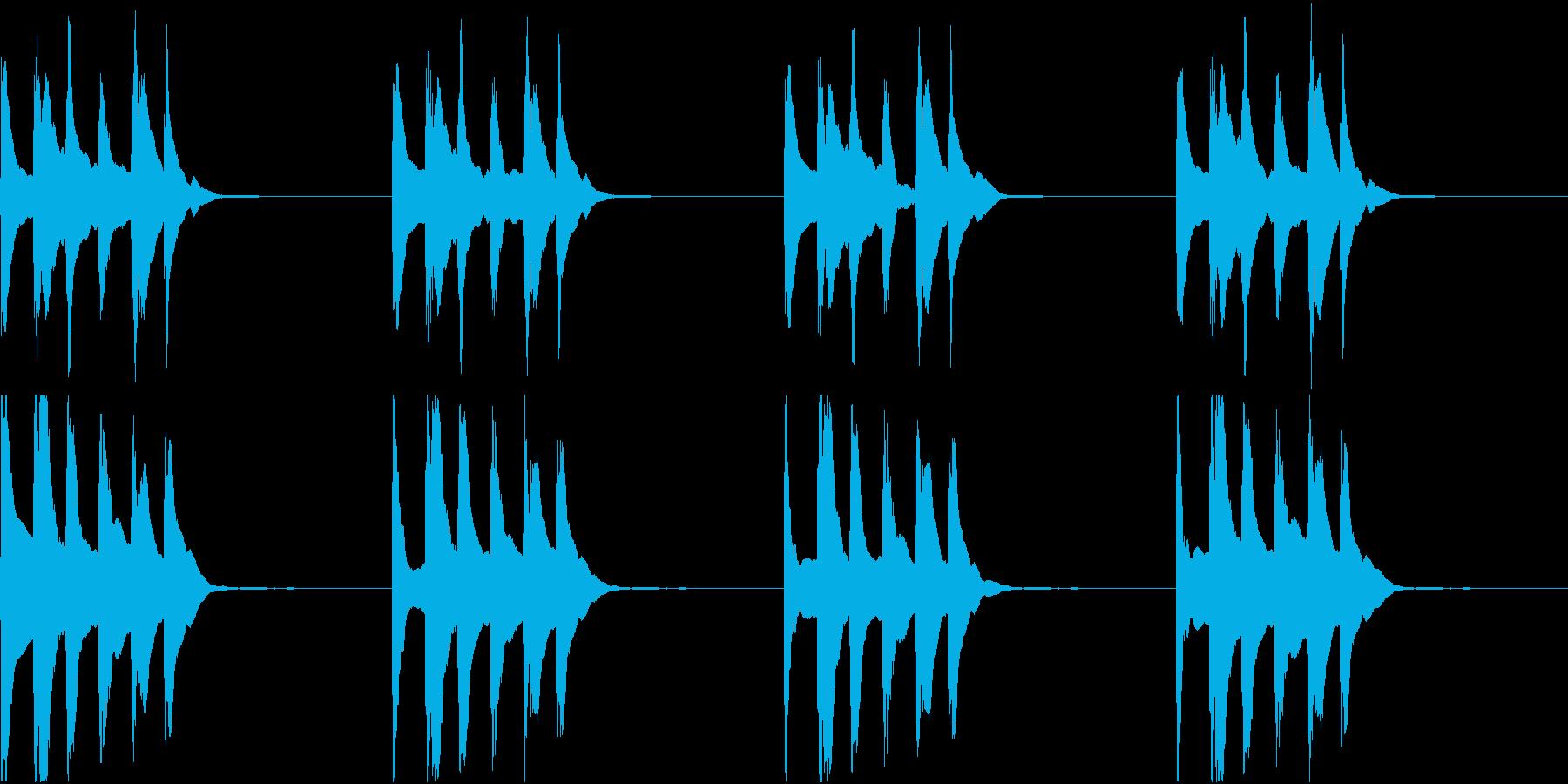 シンプル ベル 着信音 チャイム C-9の再生済みの波形