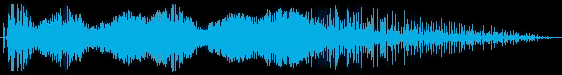 オートバイ/バイクド迫力のアクセル音2!の再生済みの波形