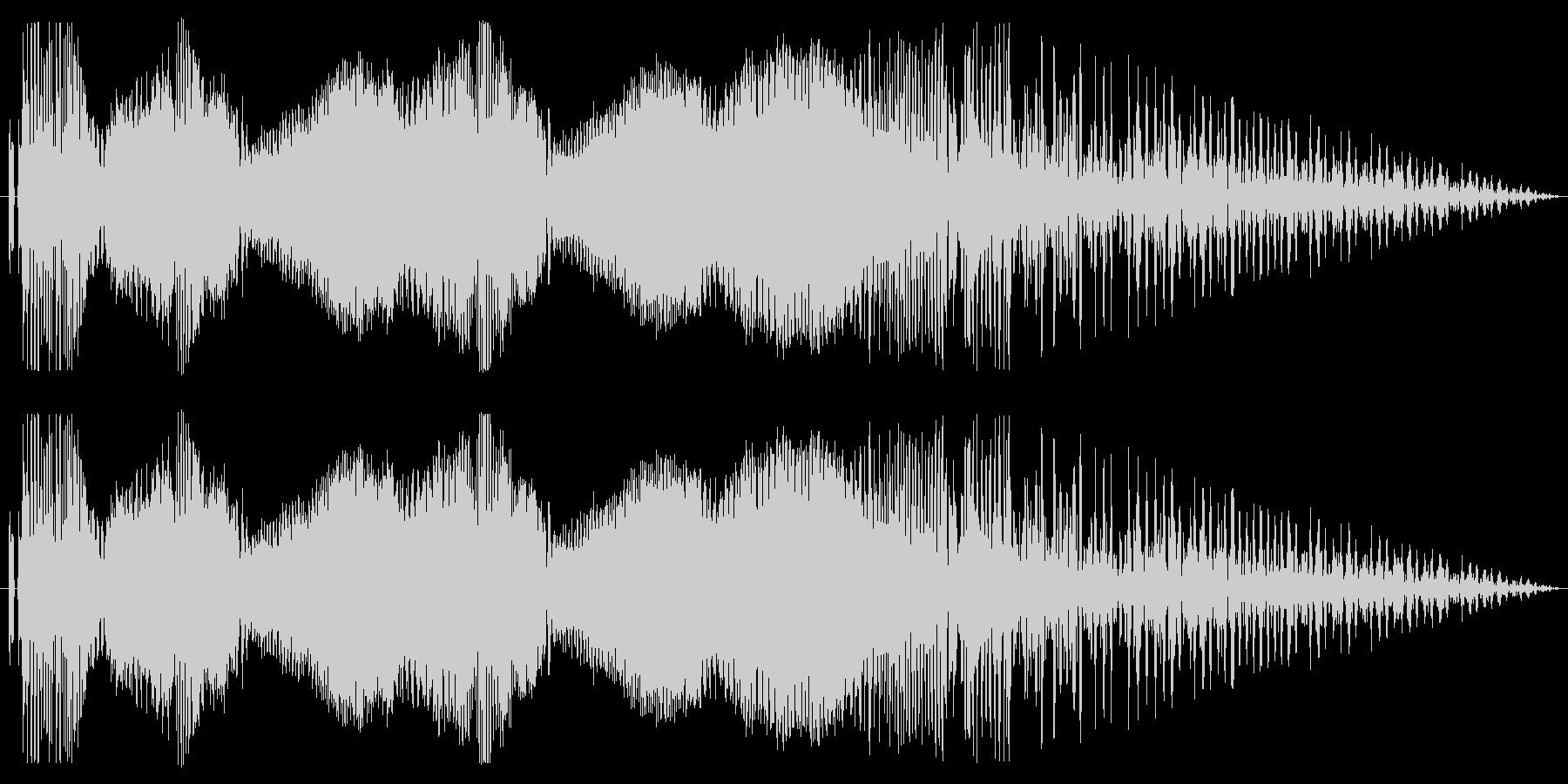 オートバイ/バイクド迫力のアクセル音2!の未再生の波形