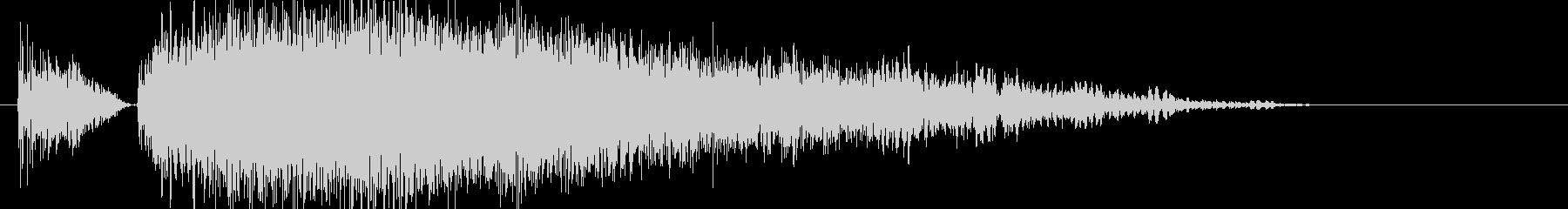 パンチやキック(大打撃、カウンター等)1の未再生の波形